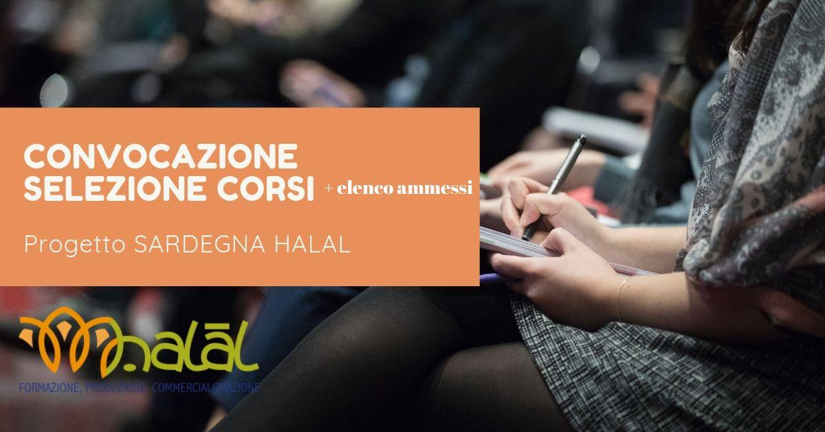 Convocazione selezione corsi Progetto Sardegna Halal